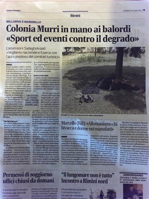 Colonia Murri in mano ai balordi